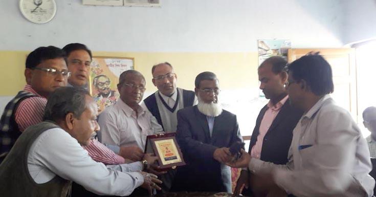 পাটকেলঘাটা কলেজের ভারপ্রাপ্ত অধ্যক্ষ আনোয়ারুল হকের বিদায় সম্বর্ধনা অনুষ্ঠিত