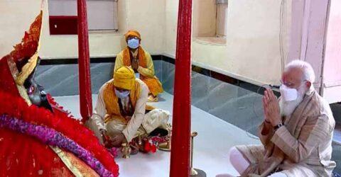 শ্যামনগর যশোরেশ্বরী কালীমন্দিরে পূজা দিয়েছেন ভারতের প্রধানমন্ত্রী নরেন্দ্র মোদি